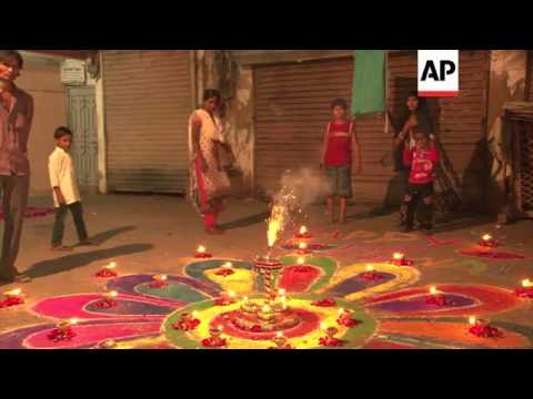 Hindus celebrate Diwali, the festival of lights