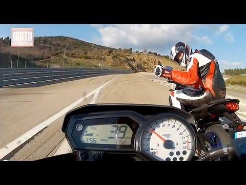 Essai Yamaha FZ8 N 2013 : Denis Bouan VS Moto Magazine
