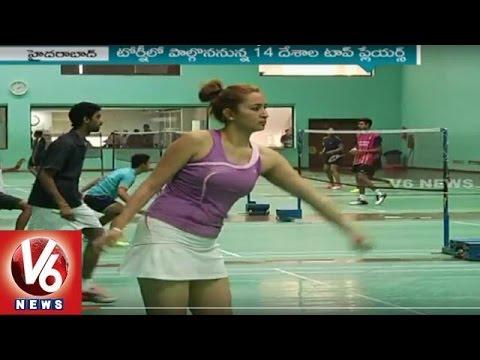 Indian Badminton Team Practice For Asian Badminton Championship | V6 News