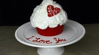 How to make a romantic Giant Cupcake! - YouTube