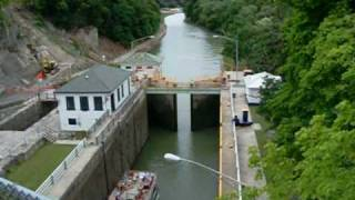 Lockport (NY) United States  city images : Ascending Lock Through of the Erie Canal Locks at Lockport NY USA - Part 1 of 2
