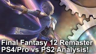 Everything you need to know about Final Fantasy 12's new remaster. We've got comparisons between PS2, PS4 and PS4 Pro - and yes, we emulated the original code at 1080p to get a detailed picture of what the enhancements are above the resolution bump!Digital Foundry Patreon supporters can grab a pristine download copy of this video here: https://www.digitalfoundry.net/2017-07-10-final-fantasy-12-zodiac-age-the-complete-analysisSubscribe for more Digital Foundry: http://bit.ly/DFSubscribe