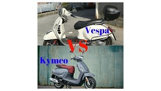4. HOT NEWS!!!  Comparison 2018 KYMCO Like 150i VS 2018 Vespa GTS 300