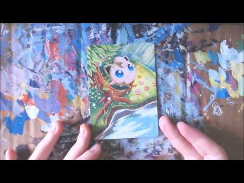 Artist alters Pokemon cards, completes them with paint - [3:50]