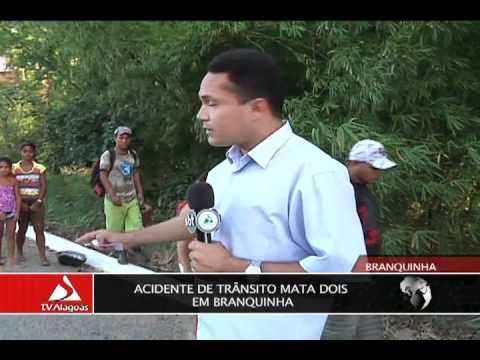 ACIDENTE DE TRÂNSITO MATA DOIS EM BRANQUINHA