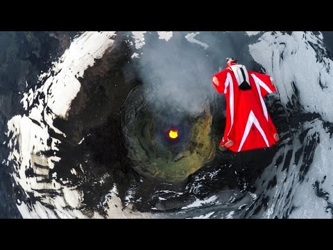 Flying a Wingsuit over an Active Volcano