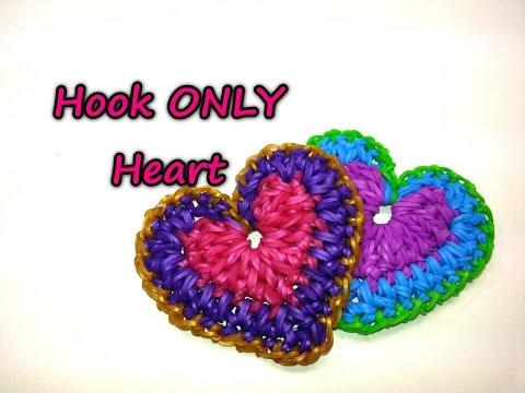 Плетение сердце на резинках