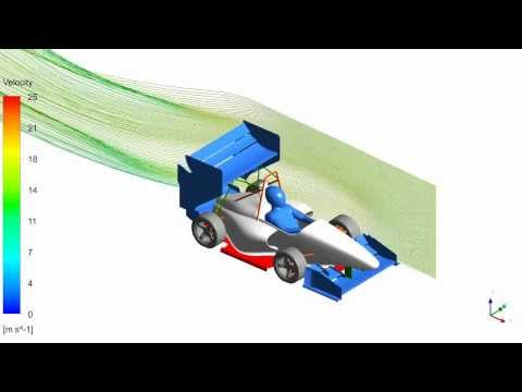 WUTracing aero concept - streamlines