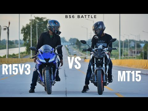 Yamaha R15 v3 BS6 Vs Yamaha MT 15 BS6 | Naked Vs Sports | Top End Race