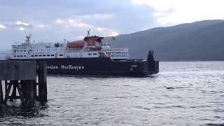 Calmac's Clansman docking in Loch Broom, Ullapool.