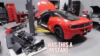 My Wrecked Ferrari 458 has revealed its Hidden Problems... by TJ Hunt