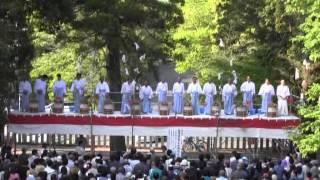 尾張富士預け子大祭(3)奉祝もち投げ