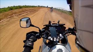2. Lunchtime Shenanigans 4: On a 2004 V-Strom 1000 - First (short) Dirt Ride