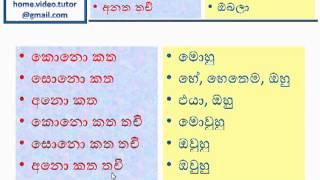 Learn Japanese Language using Sinhala Language- Part #001