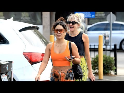 Vanessa Hudgens Stands Out In Eye-Popping Neon Sports Bra