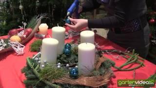 #917 Weihnachtsdekoration - Der moderne Adventskranz (Weihnachtskranz)