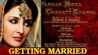 Ayesha aka Chahat Khanna GETS MARRIED on 8th February - CONGRATULATIONS !!!