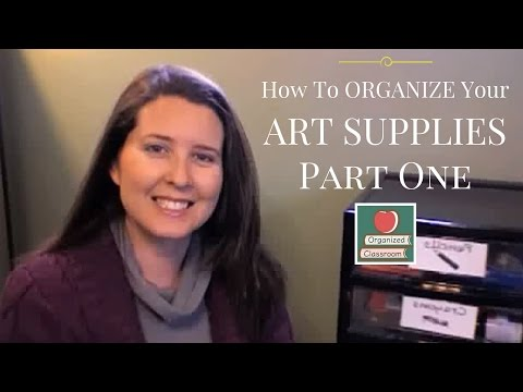 How To Organize Your  Art Supplies - Part 1