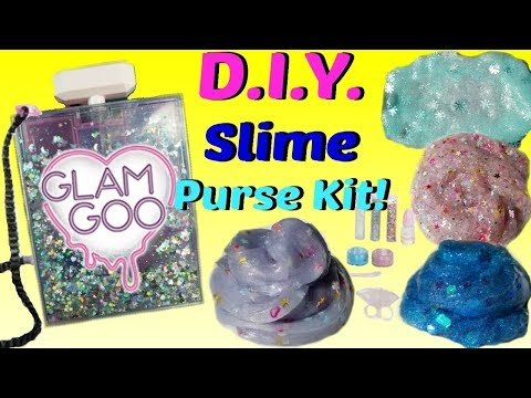 DIY Glam Goo Deluxe Slime Kit Purse Toy review  Slime you can wear!
