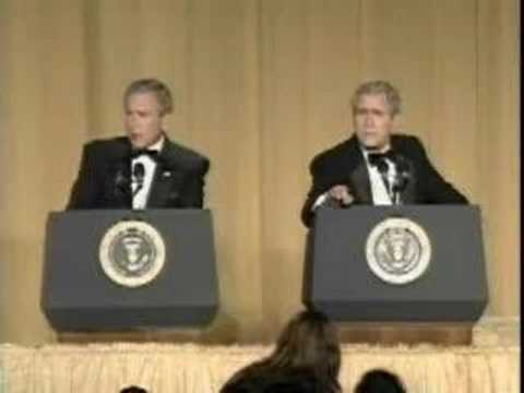 George Bush And Steve Bridges @ WHCA Dinner