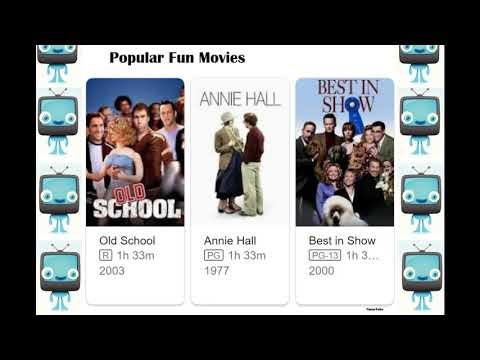 Most searched fun movies are...