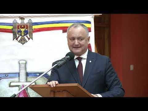 Președintele țării a participat la ședința Consiliului Republican al Uniunii Ofiţerilor din RM