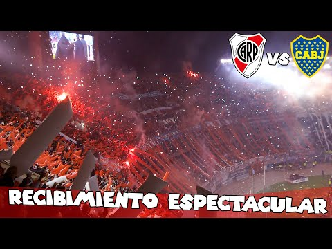 Video - RECIBIMIENTO ESPECTACULAR - River Plate vs Boca Jrs - Copa Libertadores 2015 - Los Borrachos del Tablón - River Plate - Argentina