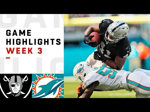 Raiders vs. Dolphins Week 3 Highlights | NFL 2018