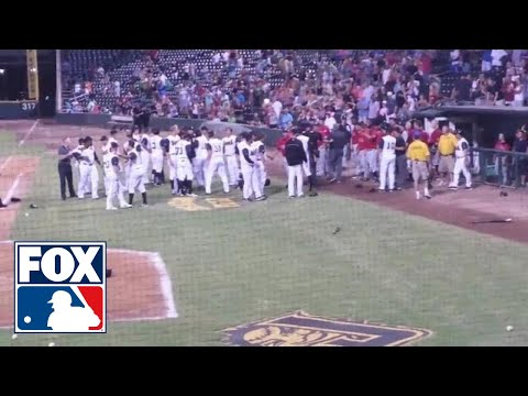 Brawl - The Birmingham Barons and the Jacksonville Suns emptied benches and bullpens not once, but twice, on Friday night.
