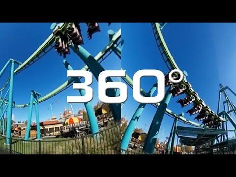 Cedar Point on 360° Camera!!! (видео)