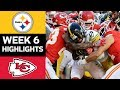 Steelers vs Chiefs | NFL Week 6 Game Highlights