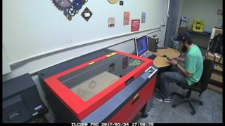 Food Computer V2.0 Kit - Laser cutting the panels.