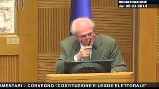 Costituzione e legge elettorale - Sen. Stefano Passigli
