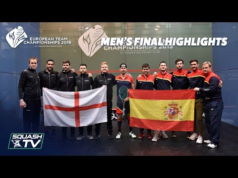 Squash: England v Spain - European Team Championship 2019 - Final Highlights