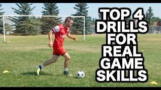 Top 4 Soccer Dribbling Drills For Better Soccer Skills  Top 4 Football Dribbling Drills For Better Football Skills  If you want soccer drills or football drills that will actually improve your soccer skills, these 4 soccer dribbling drills will help you replicate real soccer dribbling skills and techniques you need to develop in order to become a better dribbler. For more soccer dribbling drills for kids and soccer dribbling tips you may want to check out some of these football dribbling tutorial and skill videos:Your soccer skills and football skills WILL NOT improve unless you use this 1 secret = https://www.youtube.com/watch?v=wkmnCmvkM3YSoccer dribbling tricks and soccer dribbling drills for kids = https://www.youtube.com/watch?v=-7XAYYHd4B8&t=176sSoccer dribbling technique and soccer skills tutorial = https://www.youtube.com/watch?v=_h_8dx28Gz4Football dribbling skills and football dribbling tutorial that every player should use to improve their football skills faster = https://www.youtube.com/watch?v=IMbCZ1HcGl0Do you want to get all the latest updates and behind the scenes footage? Stay connected on social media!I release tons of content that you won't find on YouTube.First and most importantly...SUBSCRIBE to Progressive Soccer on YouTube: ► http://www.youtube.com/subscription_center?add_user=ProgressiveSoccerNext, hit me up on Facebook:► Join the group: https://www.facebook.com/747642591984051► Like the page: http://www.facebook.com/prosoccertraining► Follow Dylan: http://www.facebook.com/dylantoobyAre you on Instagram? Follow me:► PST: http://www.instagram.com/ProgressiveSoccer► Dylan's Profile: http://www.instagram.com/DylanTooby► @progressivesoccer and @dylantoobyI just started using SnapChat! ADD ME:► My username is: soccertrainingAlso, if you have twitter please Follow me:► http://www.twitter.com/_SoccerTrainer► @_soccertrainerPinterest? LinkedIn? Google+? Follow Me!► Pinterest: http://www.pinterest.com/SoccerTraining► GooglePlus: https://plus.google.co