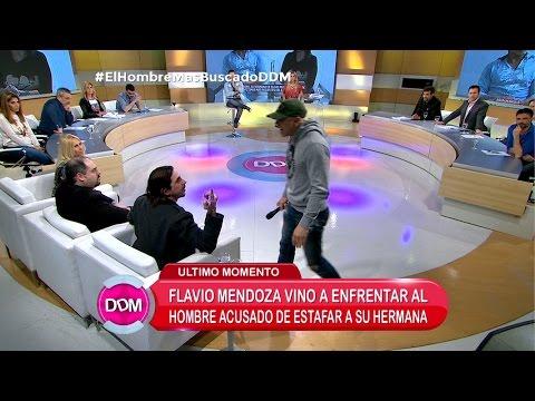 ¡Flavio Mendoza enfrentó al hombre acusado de estafar a su hermana!