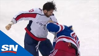 Tom Wilson And Brendan Lemieux Drop The Gloves Late In Rangers And Capitals Game by Sportsnet Canada