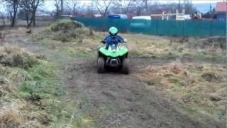 10. ATV/QUAD Kawasaki KFX 90 na blátě