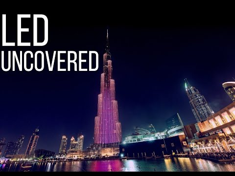 The LED Exterior Facade of Burj Khalifa Uncovered