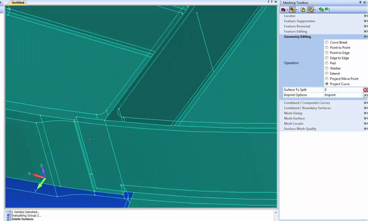 Femap 11.2 Geometry Editing - Part 2 Geometry Cleanup