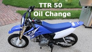 8. Yamaha TTR50 Dirt Bike Oil Change Tutorial