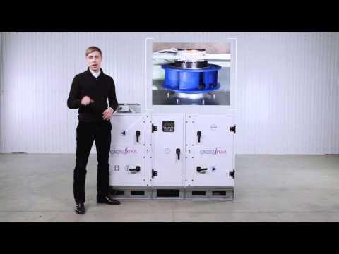 Энергосберегающая вентиляционная приточно-вытяжная установка CrossStar