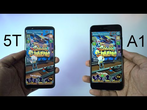 Oneplus 5T vs MI A1 Speed Test, Memory Management test and Benchmark Scores
