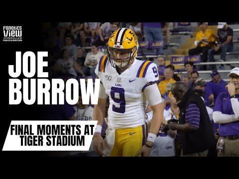 Joe Burrow Final Moments as an LSU Tiger at Tiger Stadium