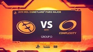 Evil Geniuses vs coL, MDL Disneyland® Paris Major, bo3, game 1 [Mila & Ark]