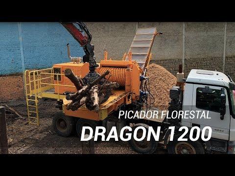 Picador Florestal Dragon 1200 na opção de montagem sobre caminhão ou Forwarder