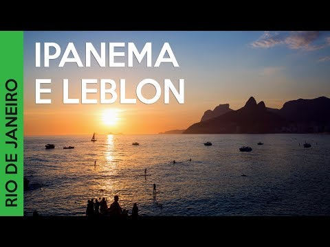 Praia de Ipanema, Leblon e Parque Lage no Rio de Janeiro