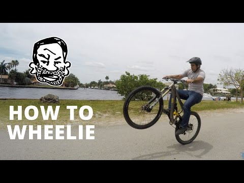 How to wheelie a Mountain Bike (видео)