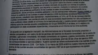 Informe de auditoría de cuentas