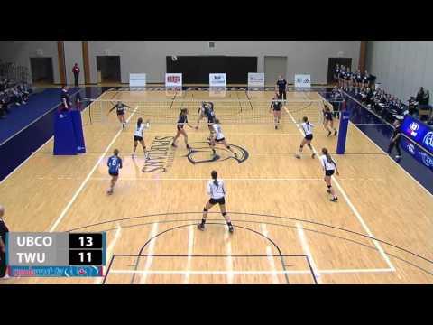2016-02-06 TWU Women's Volleyball Highlights vs UBC Okanagan